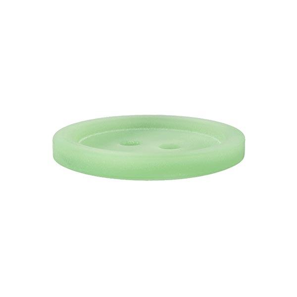 Bouton plastique 2 trous Basic - vert clair