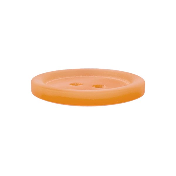 Bouton plastique 2 trous Basic - orange
