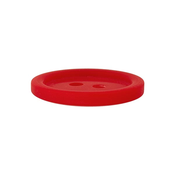 Bouton plastique 2 trous Basic - rouge