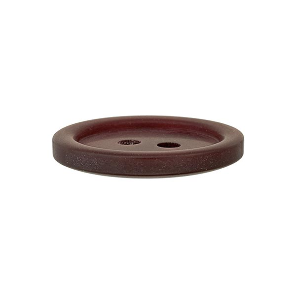 Bouton plastique 2 trous Basic - rouge-brun
