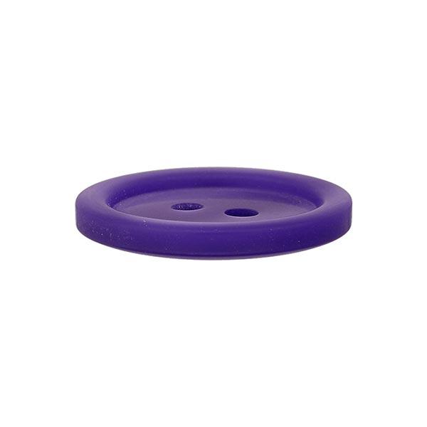 Bouton plastique 2 trous Basic - mauve