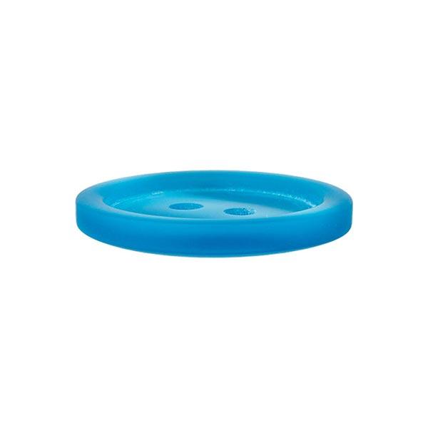 Bouton plastique 2 trous Basic - turquoise