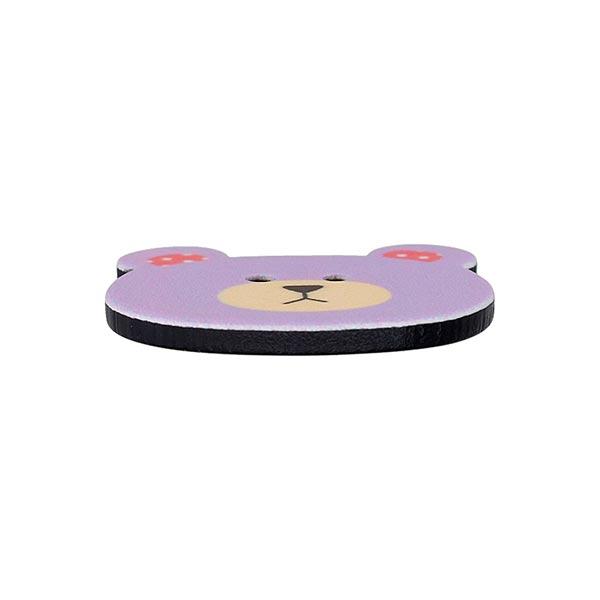 Bouton en plastique Ours - lilas