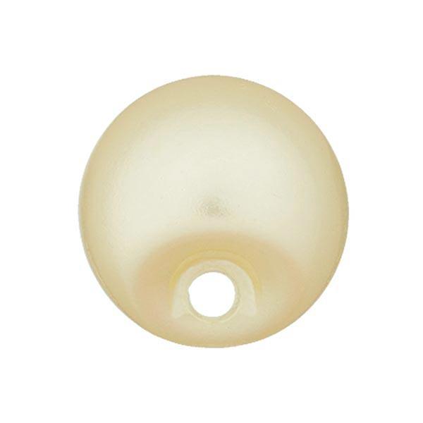 Bouton perle polyester Brillant - jaune clair