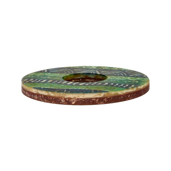 Bouton polyester Folklore - vert