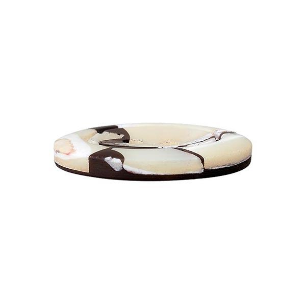 Bouton polyester/nacre 2 trous – navy