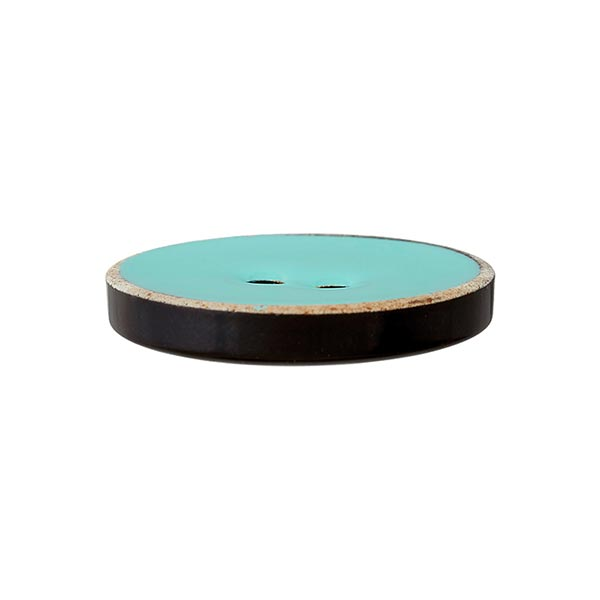 Bouton polyester 2 trous [24mm] – vert menthe