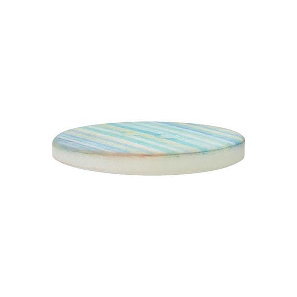 Bouton polyester 2 trous Rayures  [28mm] – bleu