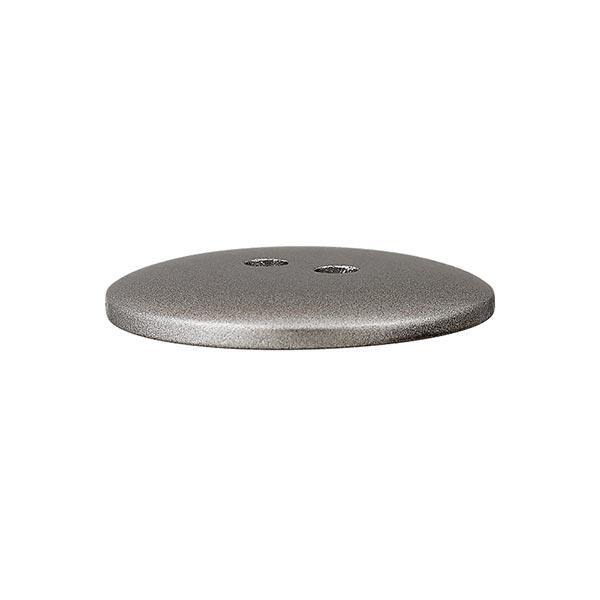 Bouton en polyester Metallic 2 trous – argent