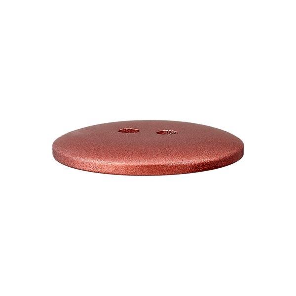 Bouton en polyester Metallic 2 trous – rouge
