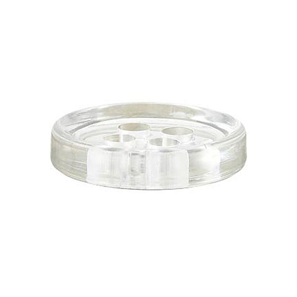 Bouton polyester 4 trous [11mm] – transparent