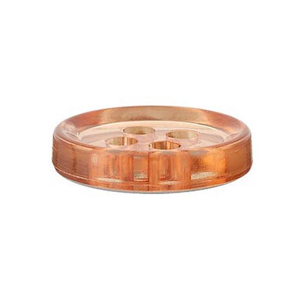 Bouton polyester 4 trous [11mm] – marron clair
