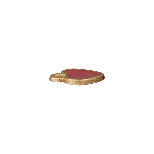 Accessoire métallique Pendentif Cœur – rouge/or