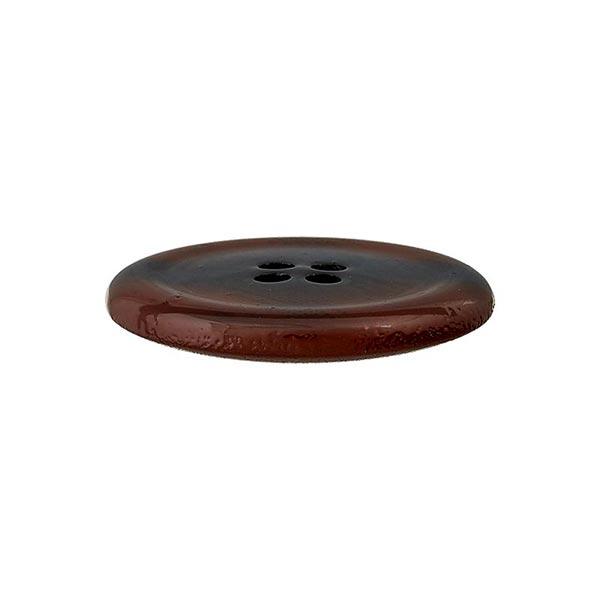 Bouton polyester 4 trous – marron