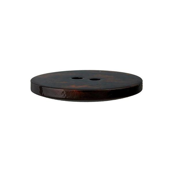 Bouton polyester 2 trous – marron rouge/noir