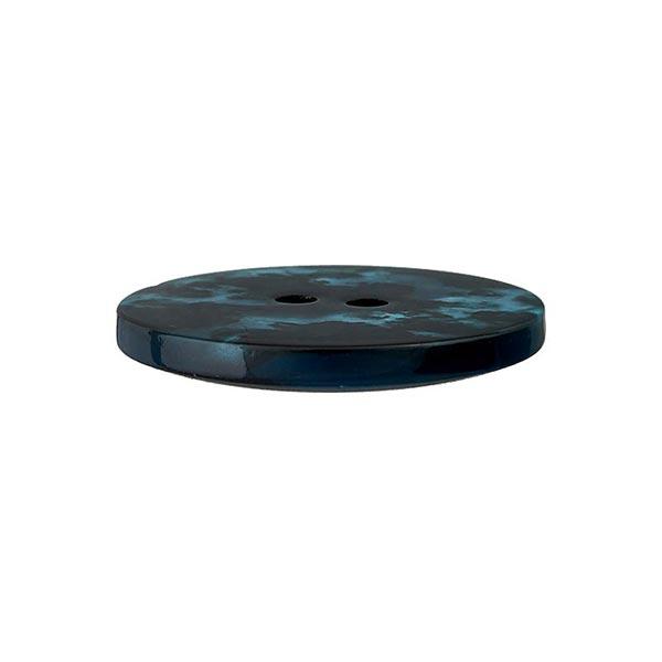 Bouton polyester 2 trous – bleu/noir