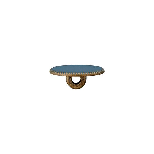 Bouton à queue polyester métal [ 15 mm ] – pétrole