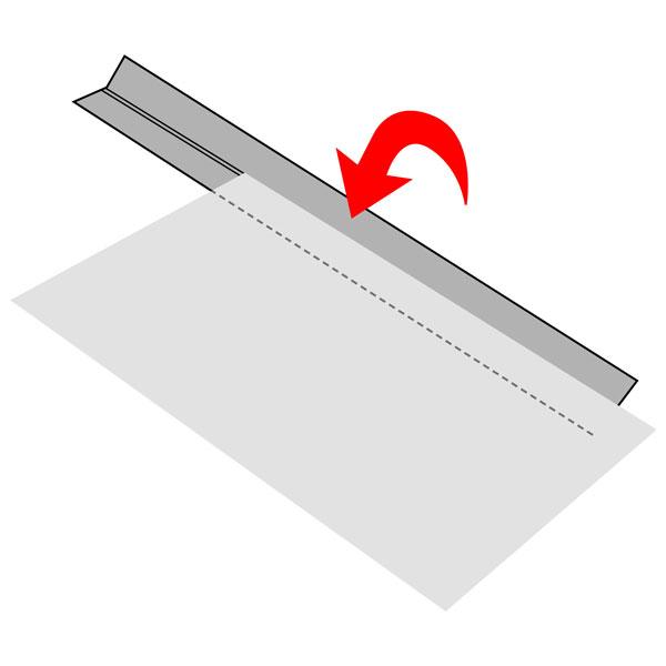 Bande pliée - Imitation daim 1 – marron foncé