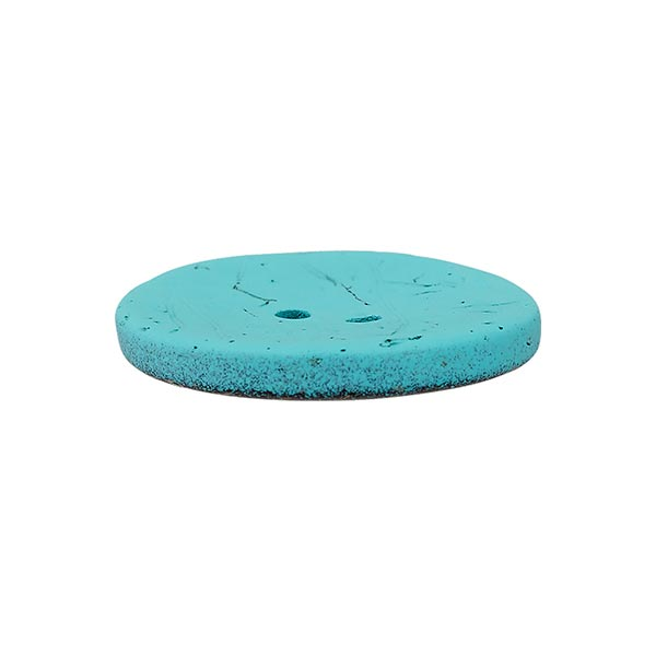 Bouton coco 2 trous Basic Chalky - turquoise