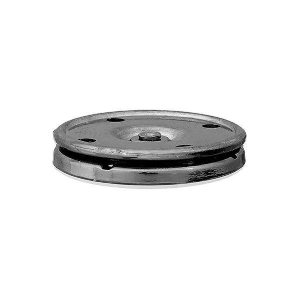 Bouton-pression métal Robuste - argent vieilli