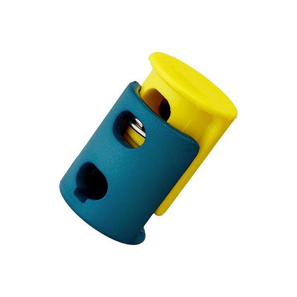 Bloqueur de cordon / passage 6mm – pétrole/jaune