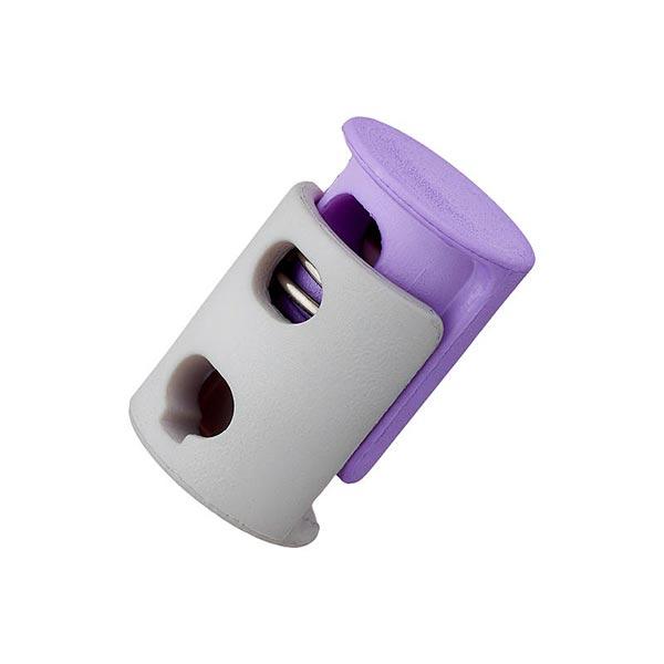 Bloqueur de cordon / passage 6mm – lilas/gris clair