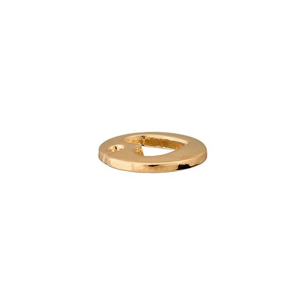 Zierteil Herz [ Ø 12 mm ] – gold