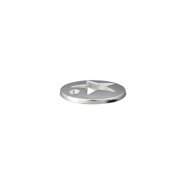 Pièce décorative Étoile [ Ø 12 mm ] – argent