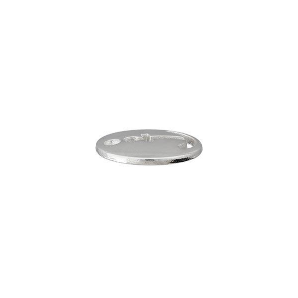 Zierteil Anker [ Ø 12 mm ] – silber