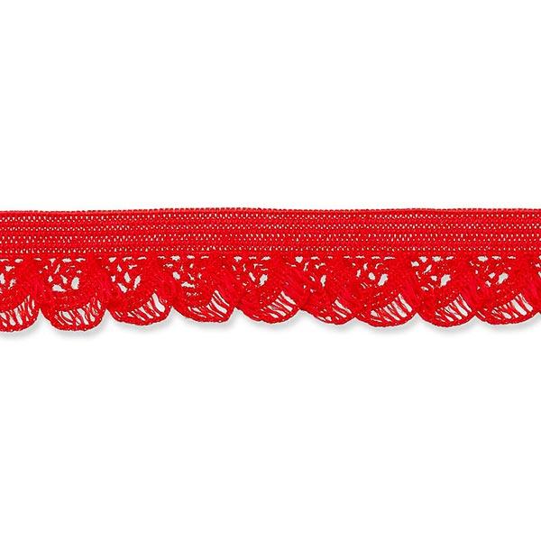 Dentelle ruchée élastique [15 mm] – rouge