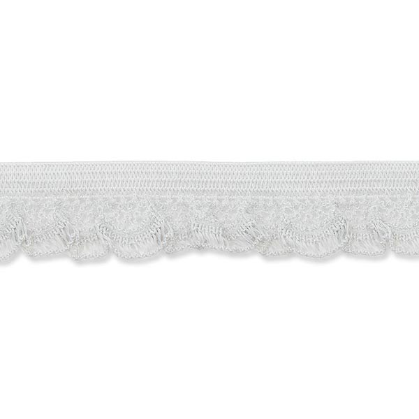 Dentelle ruchée élastique [15 mm] – gris clair