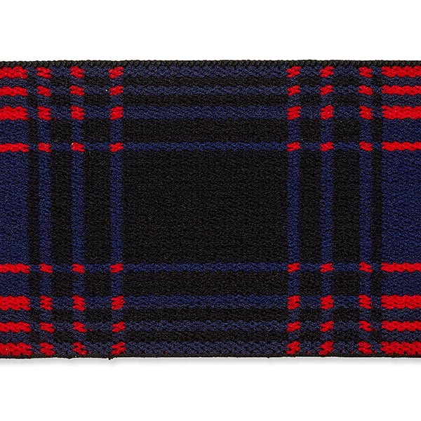Ruban élastique [ 40 mm ] – rouge vif/bleu marine