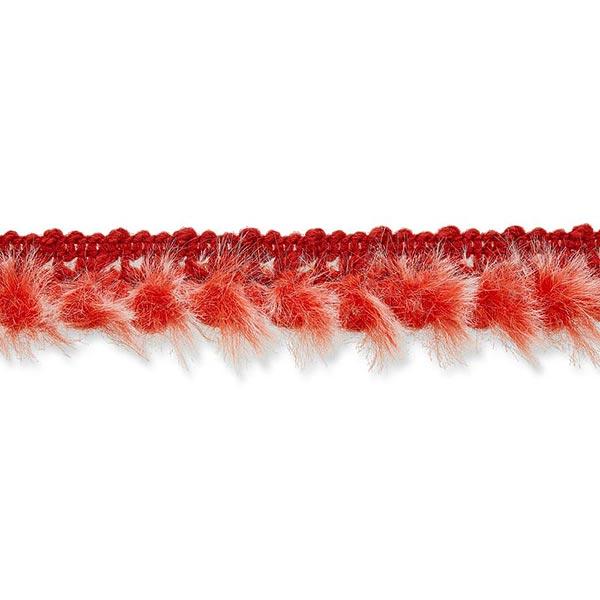 Galon fausse fourrure [20mm] – rouge