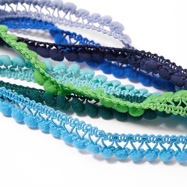 Galon à pompons [10 mm] - turquoise
