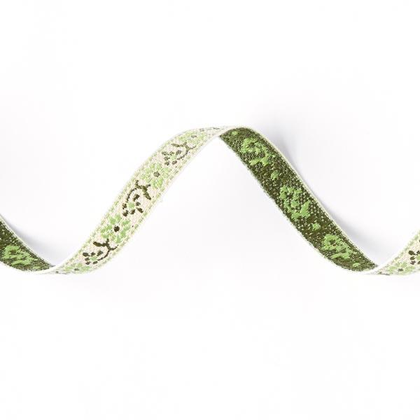 Galon jacquard Folklore [10 mm] - vert pomme
