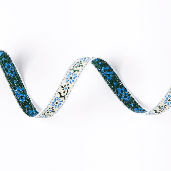 Galon jacquard Folklore [10 mm] - bleu roi