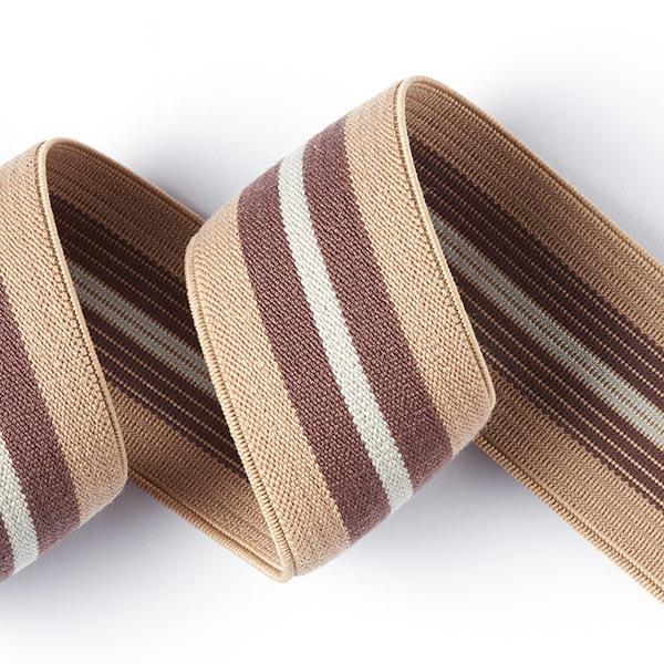 Ruban ceinture élastique Cappuccino - beige/marron