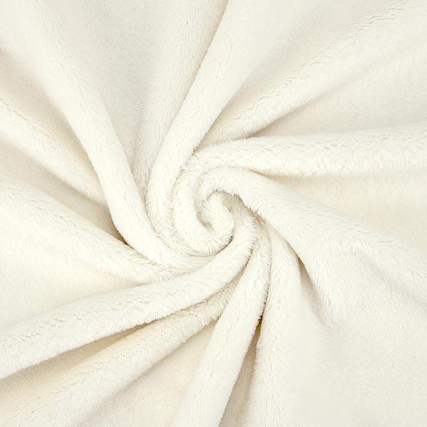 Plüsch SNUGLY [1 m x 0,75 m   Flor: 5 mm] 3 - wollweiss   Kullaloo