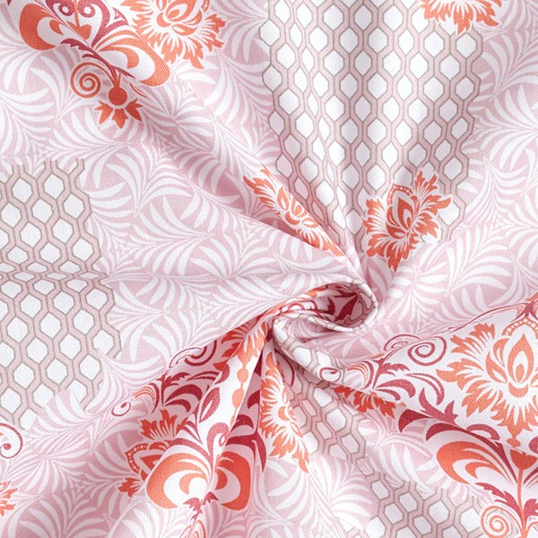 Tissu en coton cretonne Mélange de motifs | Gütermann Premium Collection Unique – vieux rose/orange