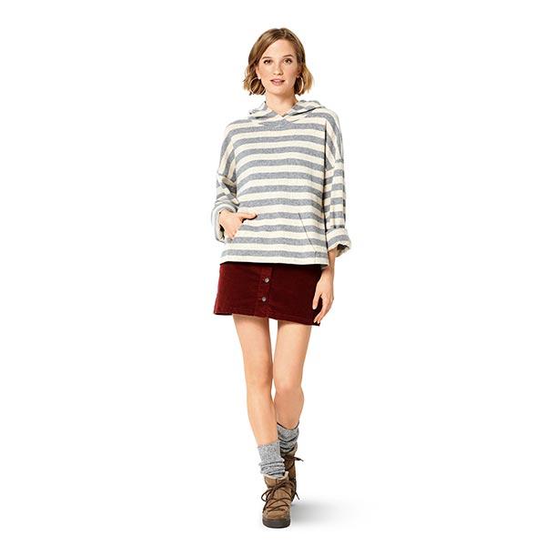 Sweatshirt, Burda 6296 | 36-46