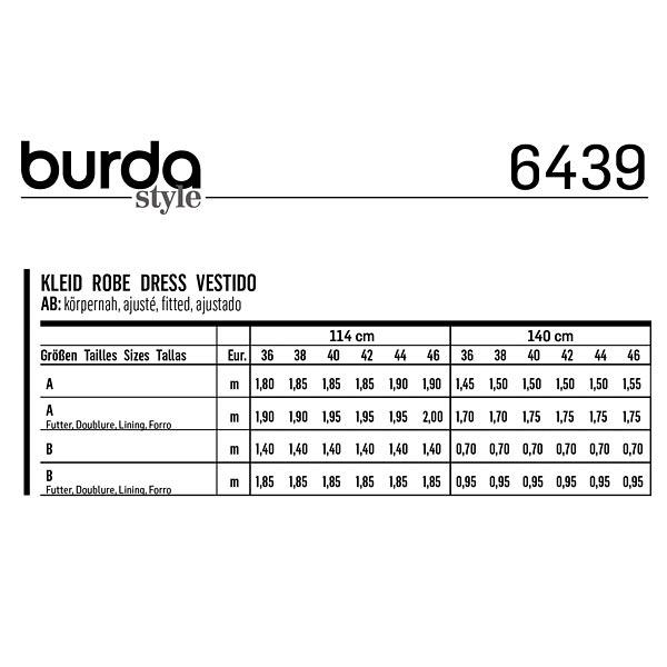 Robe, Burda 6439 | 36 - 46