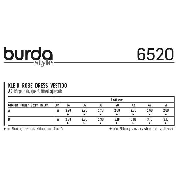 Robe, Burda 6520