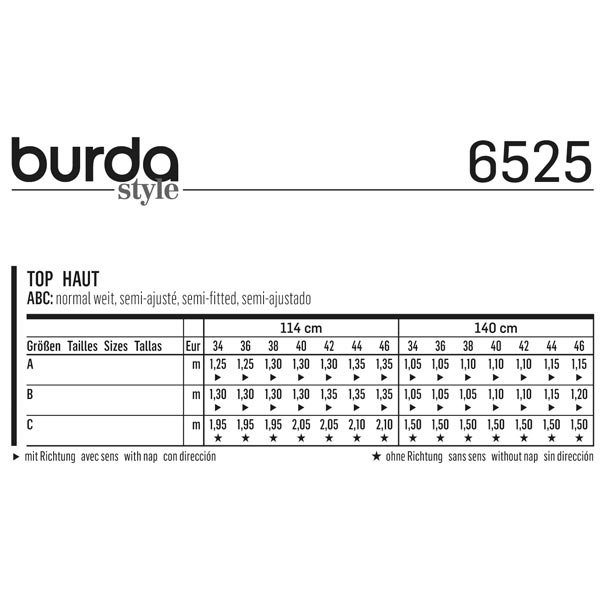 Haut, Burda 6525