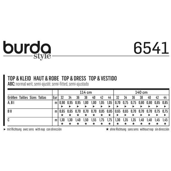Haut / Robe, Burda 6541