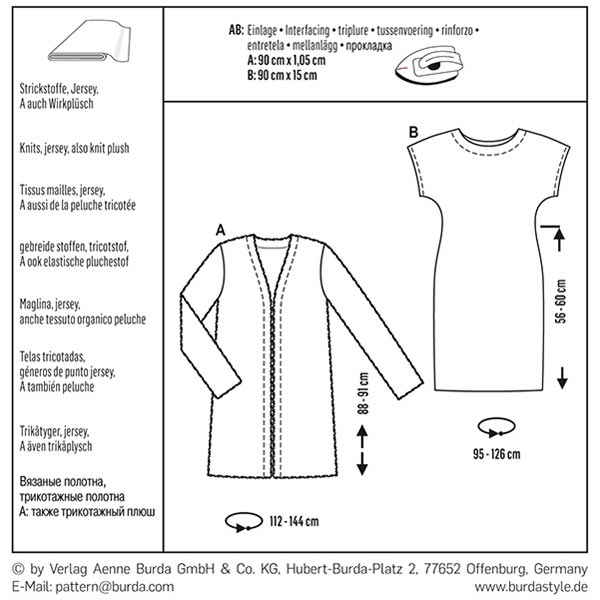 Veste / Robe, Burda 6608