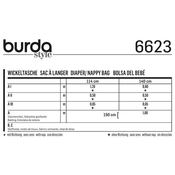 Sac à langer, Burda 6623