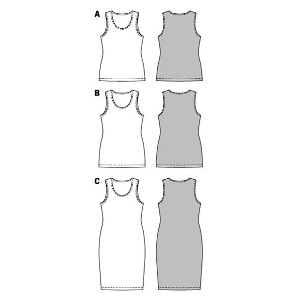 T-Shirt / Robe, Burda 6672