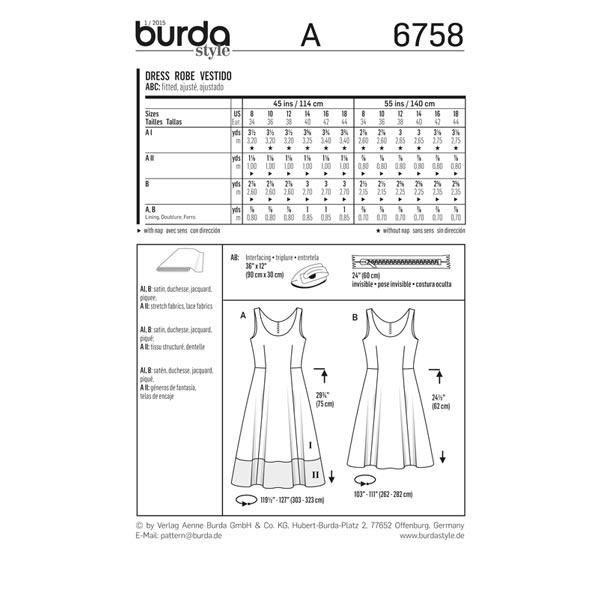 Robe, Burda 6758