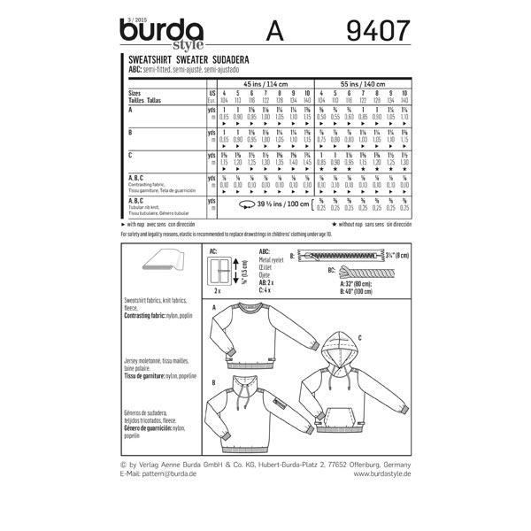 Pull-over, Burda 9407