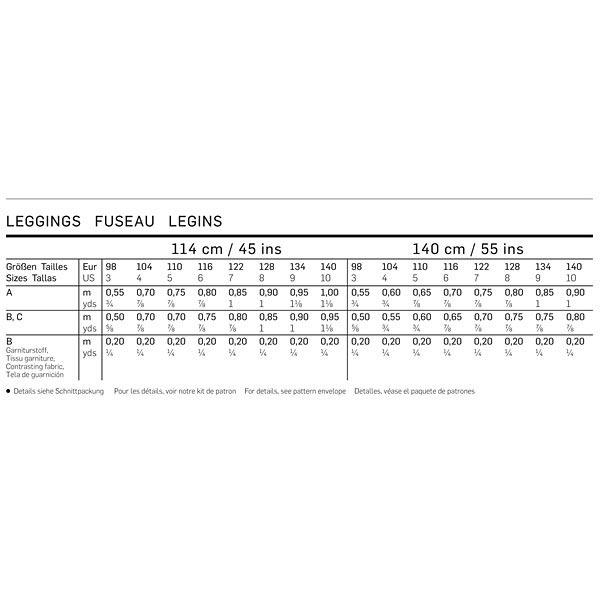 Leggins, Burda 9415